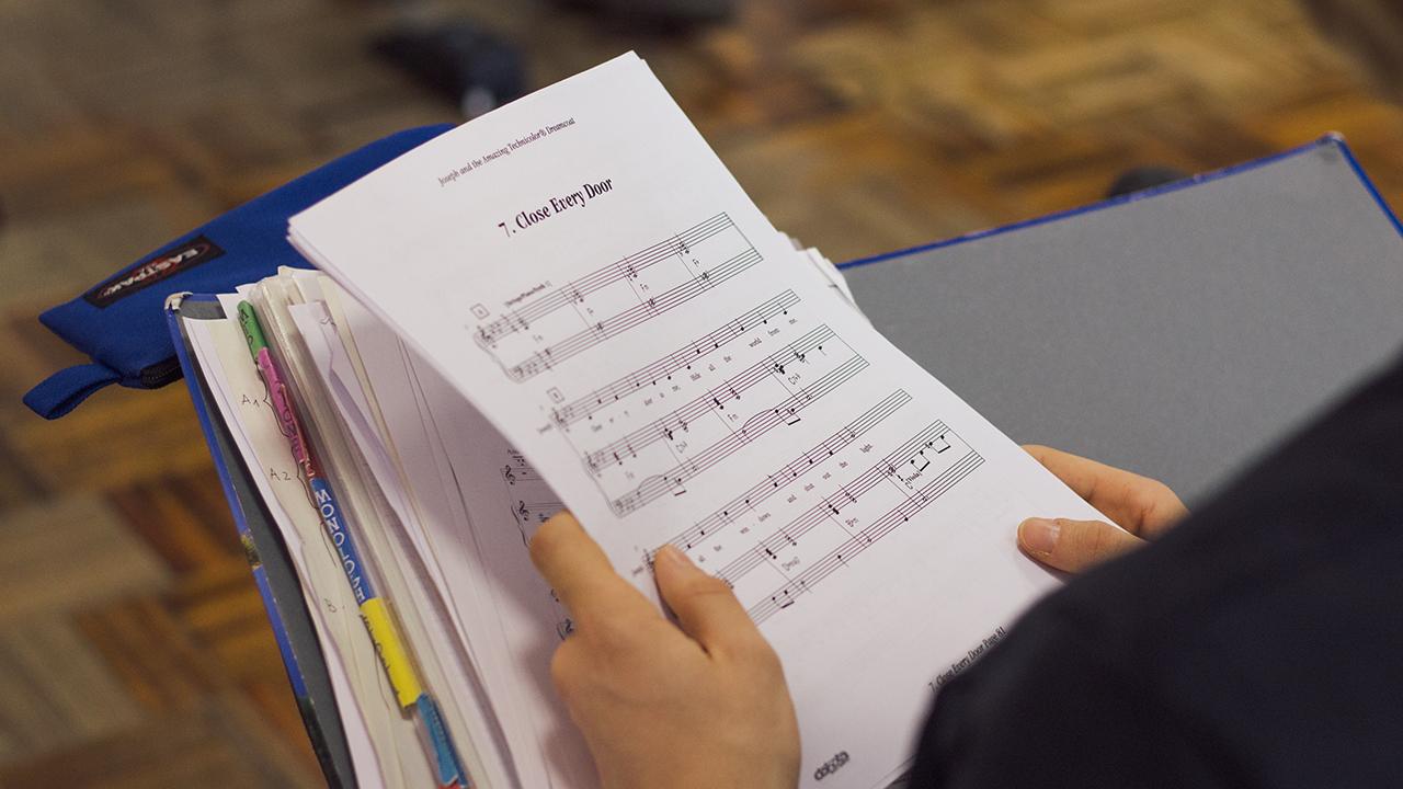 Spartito per testi musicali alla scuola di canto per musical - TMA
